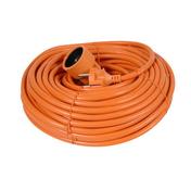Rallonge prolongateur de jardin 2 pôles + terre 16A avec câble d'alimentation rond coloris orange câble H05VVF 2G1,5mm² long.40m sous film de 1 pièce - Rallonges - Enrouleurs - Electricité & Eclairage - GEDIMAT