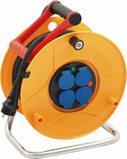 Enrouleur prolongateur STANDARD PRO avec câble 25m HO7 RN-F 3G1,5 et disjoncteur thermique - Faîtière ronde ventiléee à emboîtement (section ventilation 10cm²) pour tuiles TERREAL coloris chaumière - Gedimat.fr
