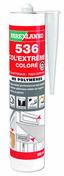 Mastic polymère 536 COL'EXTREM cartouche 290ml coloris noir - Pâtes et Mastics sanitaires - Plomberie - GEDIMAT