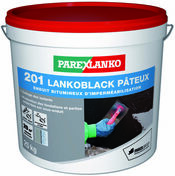 Enduit bitumineux d'imperméabilisation de maçonneries 201 LANKOBLACK PATEUX seau de 25kg été - Tampon d'isolation lambourde de terrasse bois 10x10cm ép.8mm - Gedimat.fr
