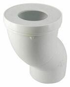 Pipe de sortie de cuvette WC NICOLL PVC orientable avec entrée à joint diam.85/107mm sortie femelle diam.100mm long.193mm coloris blanc - Evacuation de WC - Plomberie - GEDIMAT