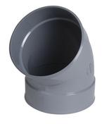 Coude d'évacuation en PVC d'eau usée NICOLL femelle-femelle diam.250mm coloris gris angle 45° - Porte d'entrée Aluminium NAYO avec isolation totale de 100mm droite poussant haut.2,00m larg.90cm laqué blanc - Gedimat.fr