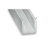 Profile U en aluminium brut 10x10 ép.1mm long.1m - Profilés - Tôles - Fers - Quincaillerie - GEDIMAT