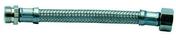 Flexible d'alimentation sanitaire inox mâle-femelle à visser diam.15x21mm long.50cm sur plaquette 1 pièce - Attente L 15x70 HA8 crosse sécurité - Gedimat.fr
