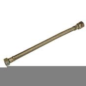 Flexible d'alimentation sanitaire inox femelle à visser diam.15x21mm bicône diam.14mm long.30cm sur plaquette 1 pièce - Flexibles d'alimentation - Plomberie - GEDIMAT