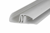 Profil PVC multifonction long.2,60m blanc - Profil de finition composite pour lame SWING ép.10mm larg.50mm long.2,85m gris - Gedimat.fr