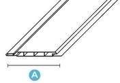 Lambris ext�rieur sous-face planchette PVC sous-face �p.9mm larg.100mm long.4m Blanc - Profil PVC raccord clipsable pour lambris �p.8 � 10mm long.2,60m blanc - Gedimat.fr