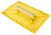 Taloche ABS rectangulaire qualité professionnelle poignée bois 28x41cm jaune - Set pour porte coulissante à condamnation sans voyant alu chromé satiné n°1 - Gedimat.fr