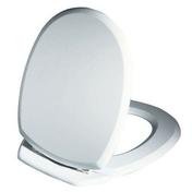 Abattant WC en bois compressé ELLIPSE 2kg charnières ABS blanc - Abattants et Accessoires - Salle de Bains & Sanitaire - GEDIMAT