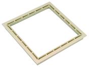 Cadre pour regard carré dimensions 300x300mm coloris sable - Sol stratifié BATON ROMPU COTE DROIT ép.12mm larg.143mm long.640mm chêne bastide - Gedimat.fr