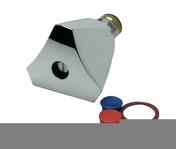Tête universelle sanitaire chromée 16x32 avec croisillon diam.12x17mm sous coque de 1 pièce - Pièces détachées robinetterie - Plomberie - GEDIMAT