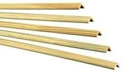 Baguette d'angle Pin des Landes sans nœud arrondie section 24x24mm long.2,40m - Plinthe en Pin des Landes rustique angles vifs section 10x70mm long.2,00m - Gedimat.fr