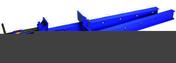 Serre-joint dormant IPN 80x42 serrage 1500 mm - Porte d'entrée HANOI en aluminium gauche poussant haut.2,00m larg.90cm laqué blanc - Gedimat.fr