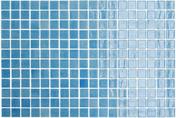 Emaux de verre de 2,5x2,5cm pour mur et piscine NIEVE sur trame de 31,1x46,7cm coloris azul celeste - Mosaïques - Galets - Revêtement Sols & Murs - GEDIMAT