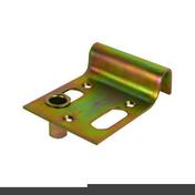 Sabot de portail à visser - Clips simple à cheville pour fixation de tube IRL diam.16 à 20mm coloris gris sachet de 10 pièces - Gedimat.fr