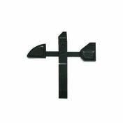 Arrêt de portail à bascule 42mm noir - Quincaillerie de portail et garage - Quincaillerie - GEDIMAT