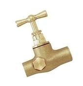 Robinet d'arrêt à purge à souder laiton brut pour tube cuivre diam.18mm en vrac 1 pièce - Robinetterie du bâtiment - Plomberie - GEDIMAT