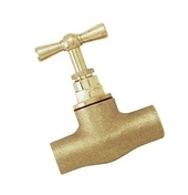 Robinet d'arrêt à souder laiton brut pour tube cuivre diam.18mm en vrac 1 pièce - Robinetterie du bâtiment - Plomberie - GEDIMAT
