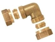 Coude laiton bicone diam.12mm écrou diam.15x21mm - Coude pour raccord PER 15X21 tube diam.12mm - Gedimat.fr