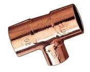 Té à souder cuivre réduit femelle femelle 5130A diam.28-22-28mm en vrac 1 pièce - Tubes et Raccords d'alimentation eau - Plomberie - GEDIMAT