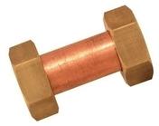 Raccord droit cuivre femelle femelle à écrous laiton brut à visser diam.12x17mm en vrac 1 pièce - Tubes et Raccords d'alimentation eau - Plomberie - GEDIMAT