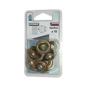 Rosace conique acier bichromaté haut.9mm sous coque de 10 pièces - Colliers de serrage - Plomberie - GEDIMAT