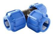 Té plastique équerre pour tube polyéthylène diam.20mm en vrac 1 pièce - Coude plastique égal pour tuyau polyéthylène diam.20mm en vrac 1 pièce - Gedimat.fr