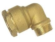 Coude laiton égal mâle 26x34 pour raccord tuyau diam.32mm - Tubes et Raccords d'alimentation eau - Plomberie - GEDIMAT