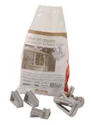 Crochet de goutiière-ensemble de montage pour naissance et jonction avec jeu de cale NICOLL - Double rive sous-faîtière pour tuiles ROMANE-CANAL coloris vieilli Languedoc - Gedimat.fr