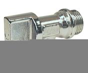 Robinet mal 1/4 de T chromé dim.15x21/20x27mm coque 1 pièce - Evacuation machine à laver - Plomberie - GEDIMAT