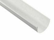 Gouttière PVC demi-ronde de 25 coloris blanc long.4m - Plaque de plâtre standard PREGYPLAC BA15 ép15mm larg.1,20m long.2,80m - Gedimat.fr