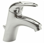 Mitigeur lavabo TELLUS en laiton finition chromée - Kit collecteur filtrant universel Gris - Gedimat.fr