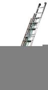 Echelle coulissante 3 plans en aluminium à corde série OR hauteur 4,67m à 11,39m déployée - Tuyau droit émaillé noir mat diam.130mm long.50cm - Gedimat.fr