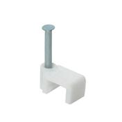 Attache plastique à clouer coloris blanc pour câble méplat en sachet de 32 pièces - Attaches - Raccordements - Accessoires - Electricité & Eclairage - GEDIMAT