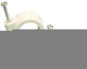 Attache cavalier à clouer pour câble rond diam.7mm coloris blanc en boîte de 100 pièces - Attaches - Raccordements - Accessoires - Electricité & Eclairage - GEDIMAT