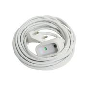 Rallonge électrique simple 2 pôles 6A coloris blanc long.5m - Rallonges - Enrouleurs - Electricité & Eclairage - GEDIMAT