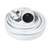 Rallonge prolongateur électrique mâle femelle 2 pôles + terre 16A avec cordon d'alimentation rond coloris blanc câble H05VVF 3G1,5mm² long.10m sous film de 1 pièce - Rallonges - Enrouleurs - Electricité & Eclairage - GEDIMAT