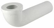 Pipe de sortie de cuvette WC NICOLL PVC longue avec entrée à joint diam.85/107mm sortie mâle diam.100mm long.350mm coloris blanc - Evacuation de WC - Salle de Bains & Sanitaire - GEDIMAT