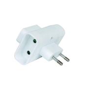 Prise électrique multiple 3 sorties 2 pôles 6A coloris blanc - Multiprises - Electricité & Eclairage - GEDIMAT