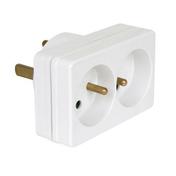 Adaptateur 20 ampères en 2x16 ampères coloris blanc - Multiprises - Electricité & Eclairage - GEDIMAT