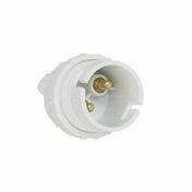 Douille nylon double bague B22 plastique blanc - Rosace émaillé noir mat diam.130mm - Gedimat.fr