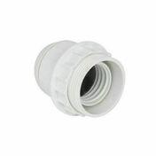 Douille bakélite chemise lisse culot à visser E27 blanc - Fiches - Douilles - Adaptateurs - Electricité & Eclairage - GEDIMAT