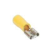 Cosse électrique à clips femelle pré-isolé larg.6,3mm ép.0,8mm 10 pièces coloris Jaune - Modulaires - Boîtes - Electricité & Eclairage - GEDIMAT