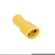 Cosse électrique à clips femelle isolé larg.6,3mm ép.0,8mm 10 pièces coloris jaune - Modulaires - Boîtes - Electricité & Eclairage - GEDIMAT