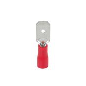 Cosse électrique à clips mâle pré-isolé larg.6,3mm ép.0,8mm 10 pièces coloris rouge - Modulaires - Boîtes - Electricité & Eclairage - GEDIMAT