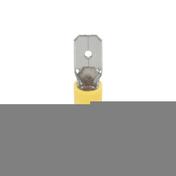 Cosse électrique à clips mâle pré-isolé larg.6,3mm ép.0,8mm 10 pièces coloris jaune - Modulaires - Boîtes - Electricité & Eclairage - GEDIMAT