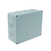 Boîte de dérivation électrique étanche IP55 rectangulaire long.210mm larg.170mm haut.80mm coloris gris - Laine de verre en panneau roulé PRK 32 revêtue kraft ép.101mm larg.1,20m long.5,40m - Gedimat.fr