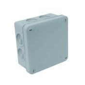 Boite de dérivation électrique étanche classe II coloris gris carrée dim.105x105mm haut.55mm sous film 1 pièce - Modulaires - Boîtes - Electricité & Eclairage - GEDIMAT
