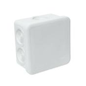 Boite de dérivation électrique étanche classe II coloris blanc carrée dim.80x80mm haut.45mm sous film 1 pièce - Angle int/ext PVC clipsable pour bardage cellulaire original 45 x 45 mm Long.5 m Sable - Gedimat.fr