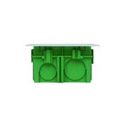 Boîte de dérivation carrée avec couvercle pour maçonnerie coloris vert dim.75x75mm haut.40mm sous film 1 pièce - Châtière béton PLEIN CIEL coloris provence - Gedimat.fr